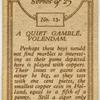A quiet gamble, Volendam.