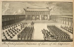 The Embassadors audience of leave of the Emperor.