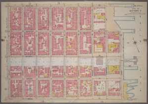 Plate 15, Part of Section 2: [Bounded by Stanton Street, Tompkins Street, Irvington Street, (East River Piers) East Street,Grand Street and Willett Street.]