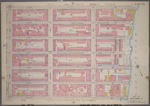 Plate 34, Part of Section 5: [Bounded by E. 53rd Street, (East River Piers) First Avenue, E. 47th Street and Third Avenue.]