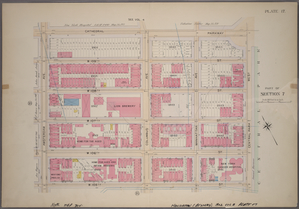 Plate 17, Part of Section 7: [Bounded by Cathedral Parkway, Central Park West, W. 105th Street and Amsterdam Avenue.]