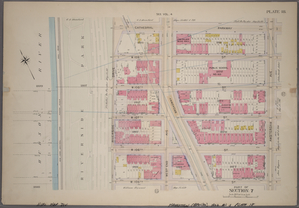 Plate 18, Part of Section 7: [Bounded by Cathedral Parkway, Amsterdam Avenue, W. 105th Street and (Hudson River - Riverside Park) Riverside Drive.]