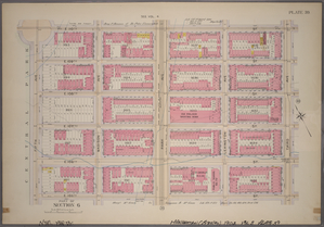Plate 39, Part of Section 6: [Bounded by E. 110th Street, Third Avenue, E. 105th Street and Fifth Avenue.]