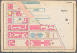 Plate 1, Part of Section 3: [Bounded by E. 20th Street, Avenue C (East River Piers), E. 15th Street, Avenue D, E. 14th Street and Avenue B.]