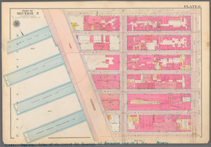 Plate 6, Part of Section 3: [Bounded by W. 20th Street, Ninth Avenue, W. 14th Street and (Hudson River Piers) Thirteenth Avenue.]