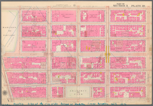 Plate 10, Part of Section 3: [Bounded by E. 26th Street, Second Avenue, E. 20th Street, Broadway, E. 23rd Street and Madison Avenue.]