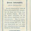 Queen Amenophis.