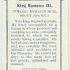 King Rameses III.