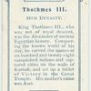 King Thothmes. III.