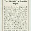 """The """"Heracles"""" at Croydon Airport."""