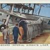 """Going aborad Imperial Airways liner """"Scylla""""."""