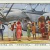"""Embarking on the """"Hannibal,"""" Entebbe, Uganda."""