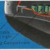 Mooring bollard and landing light.