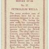 Petroleum wells.