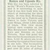 At Lumbwa, Kenya and Uganda Ry.