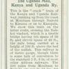 The Uganda Mail, Kenya and Uganda Ry.