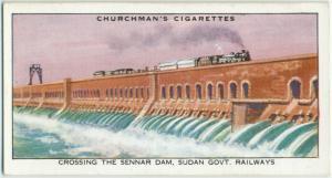 Crossing the Sennar Dam, Sudan Govt. Railways.