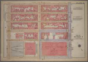Plate 20, Part of Section 3: [Bounded by W. 37th Street, Seventh Avenue, W. 31st Street and Ninth Avenue.]