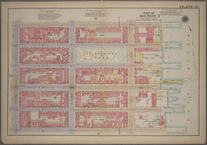 Plate 23, Part of Section 3: [Bounded by E. 37th Street, First Avenue, E. 32nd Street and Third Avenue.]