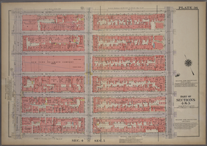 Plate 36, Part of Sections 4&5: [Bounded by W. 53rd Street, Fifth Avenue, W. 47th Street and Seventh Avenue.]