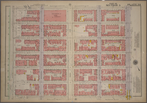 Plate 34, Part of Section 5: [Bounded by E. 95th Street, Third Avenue, E. 89th Street and Fifth Avenue.]