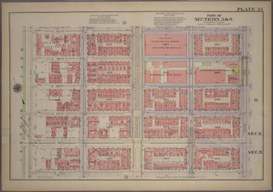 Plate 35, Part of Sections 5&6: [Bounded by E. 100th Street, Third Avenue, E. 95th Street and (Central Park) Fifth Avenue.]