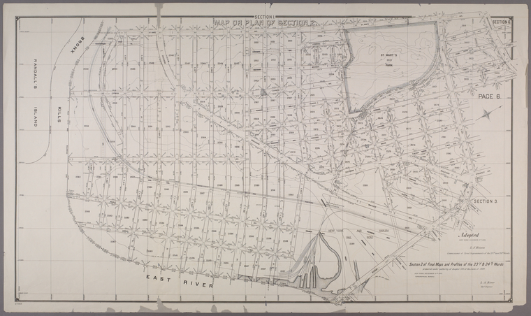 This is What New York and Section 2 of Final Maps and Profiles of the 23rd & 24th Wards Looked Like  in 1892