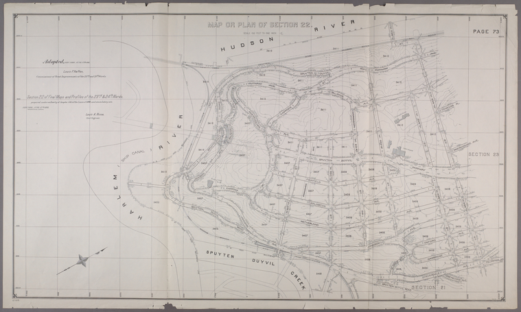 This is What New York and Section 22 of Final Maps and Profiles of the 23rd & 24th Wards Looked Like  in 1892