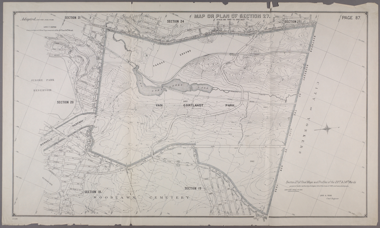 This is What New York and Section 27 of Final Maps and Profiles of the 23rd & 24th Wards Looked Like  in 1892