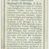 Rolling lift bridge, U.S.A.