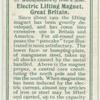 Electric lifting magnet, Great Britain.