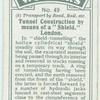 """Tunnel construction by means of a """"shield,"""" London."""