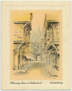 Mercery Lane and cathedral, Canterbury.