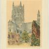The cathedral and ruins of the Guesten Hall, Worcester.