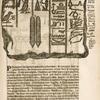Magia hieroglyphica. A. Accipiter est motus Solaris symbolum, ... B. Noctua cum flagello, ... C. Sacerdotem notat vna cum pyramide, ... D. binas vitreas phialas signat, intra quas aqua Nilotica ..., E.F.G.H.I.K.L.M. &c.