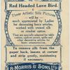 Red Headed Love Bird.