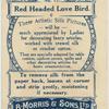 Red Headed Love Bird.