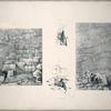 Fig. 1. View of the upper entrance; Fig. 2. View of lower entrance; Figs. 3. and 4. Excavations near the north-western and south-western angles.