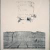 Fig. 1. Hieroglyphics on the rocks near the north-western angle; Fig. 2. Remains of quarries and hieroglyphics on the rock to the northward.