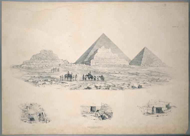 Giza  The pyramids of Gizeh, from actual survey and admeasurement. Illustrated by notes and references to the several plans  J. E. Perring, E. J. Andrews. 1839-1942