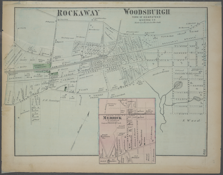 Rockaway Woodsburgh, Town of Hempstead, Queens Co. - Merrick, Tn. of Hempstead, Queens Co.