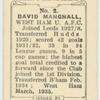 David Mangnall, West Ham U[nited]. A.F.C.