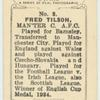 Fred Tilson, Manchester C[ity] A.F.C.