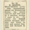 D. (Boy) Martin, Wolv[erha]mpton A.F.C.