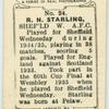 R.N. Starling, Sheffield W[ednesday] A.F.C.