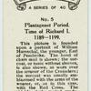Plantagenet period. Time of Richard I. 1189-1199.