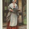 A Puritan woman, about 1640.