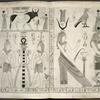 [Scene with sacred bull, sema-symbol, and the gods Haroeris and Thoth.]