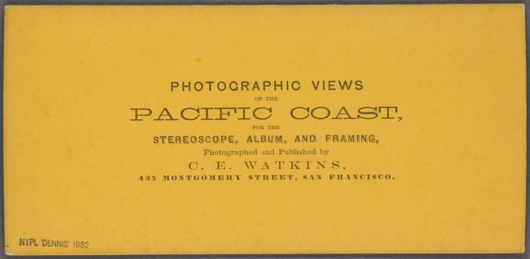 This is What Carleton E. Watkins and Pacific coast Looked Like  in 1867