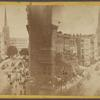 [New York City street scene, from above.]